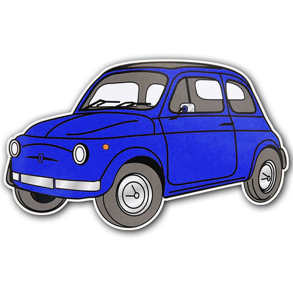 FIAT 500 Sticker (Blue)