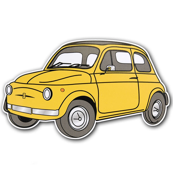 FIAT 500 Sticker (Yellow)