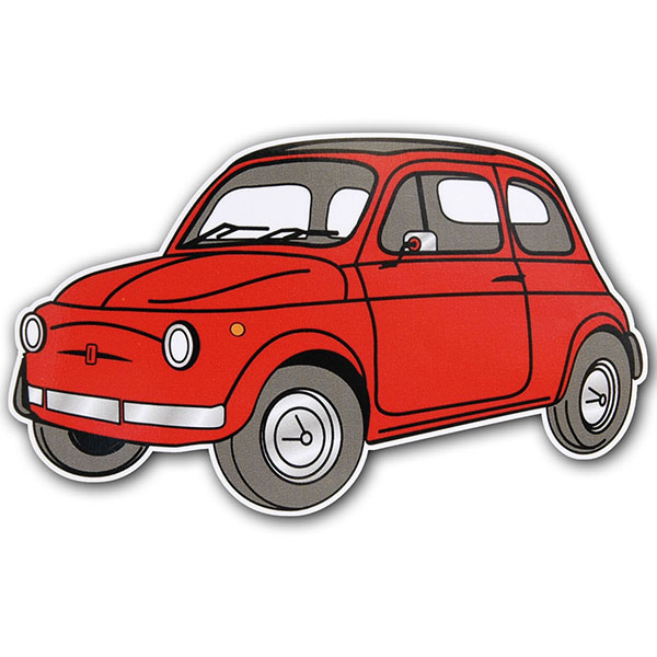FIAT 500 Sticker (Red)