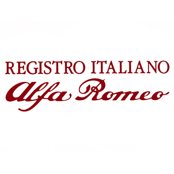 REGISTRO ITALIANO Alfa Romeo Logo Sticker(Die Cut)