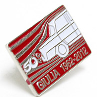Alfa Romeo GIULIA 50anni Memorial Pin Badge