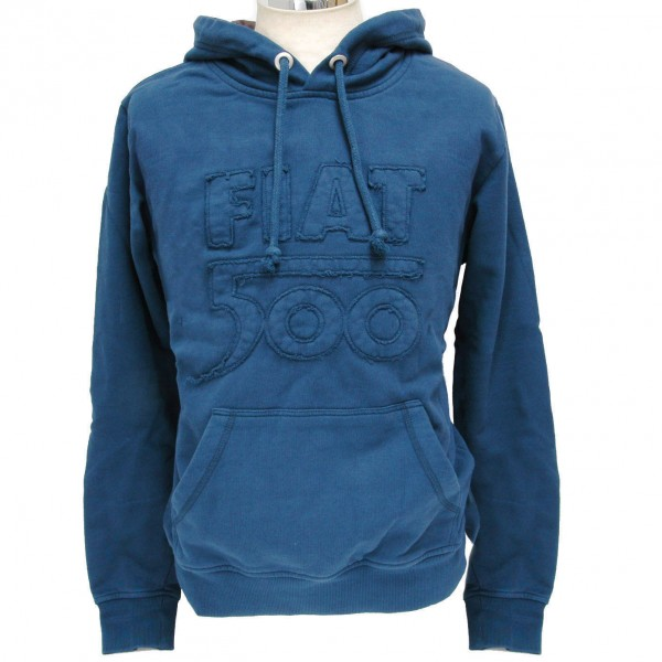 FIAT 500 Hooded Felpa (Navy)