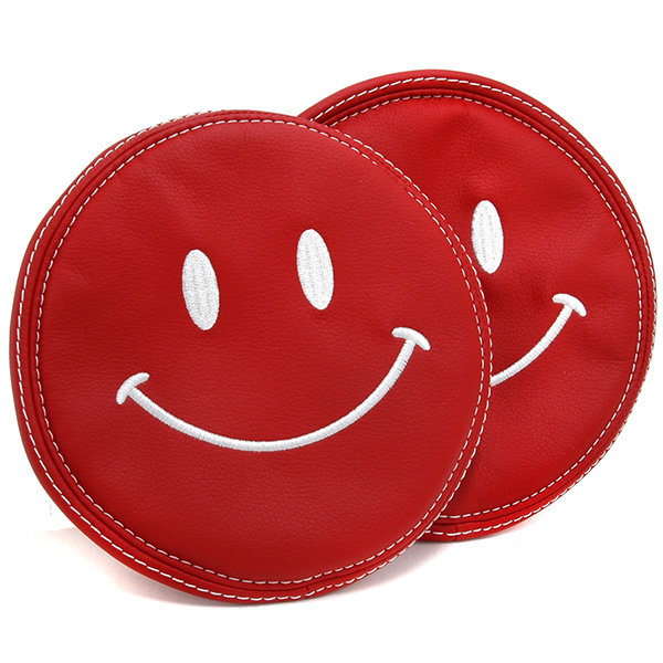 FIAT NEW 500 Leather Head-rest Cover (Smile/Red)