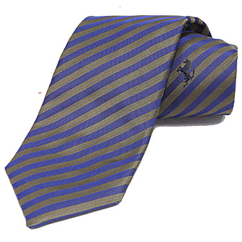 Ferrari Neck-Tie(regimental/brown)