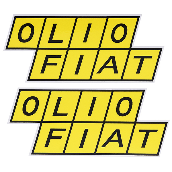 OLIO FIAT Sticker(2pcs.)