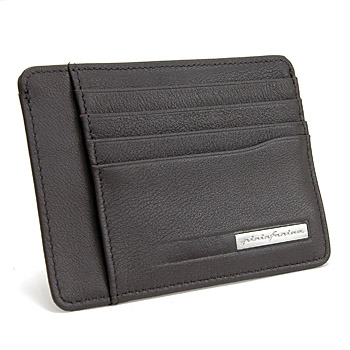 Pininfarina Leather Card Holder PERGUSA by BRICS (Dark Brown)(BP908861-099)