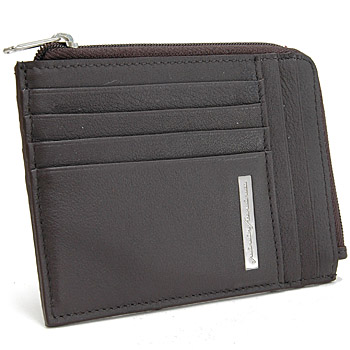 Pininfarina Leather Card Holder PERGUSA by BRICS (Dark Brown)(BP908896-099)