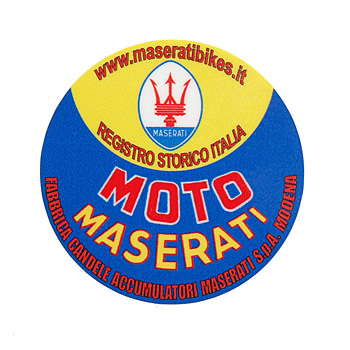Registro Storico MOTO MASERATI Sticker(Round Shaped)