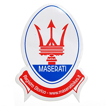 Registro Storico MOTO MASERATI Sticker (Emblem Shaped)