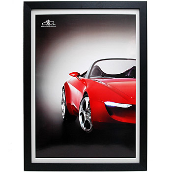 Pininfarina 80anni Memorial Poster with frame