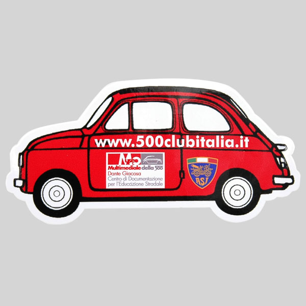 FIAT 500 CLUB ITALIA Sticker(CAR Shaped)<br><font size=-1 color=red>02/09到着</font>