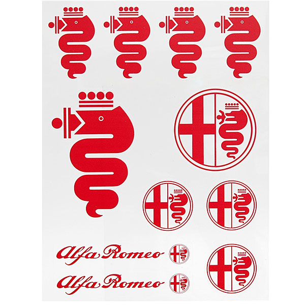 Alfa Romeo Sticker Set (Red)
