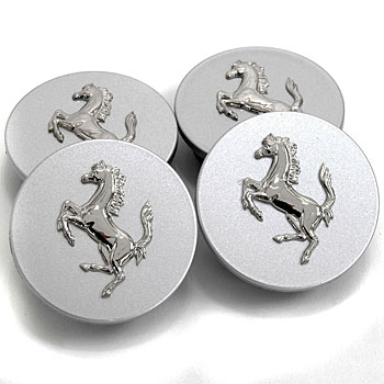 Ferrari Wheel Centre Cap Set(Silver)