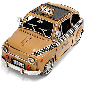 FIAT 500 TAXI Hand Made Tin Toy