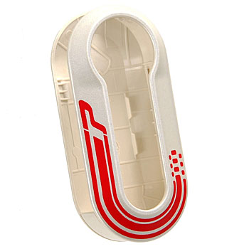 FIAT Grande Punto Keycover(White/Red Logo)