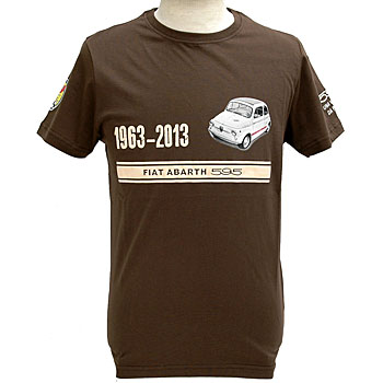 ABARTH 595 50th ANNIVERSARY T-Shirts(Brown)