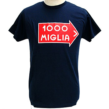 1000 MIGLIA Official Logo T-shirts(Navy)