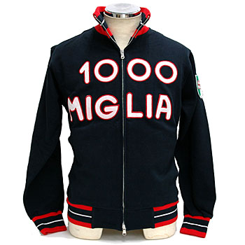 1000 MIGLIA Official Lettered Felpa(Navy)