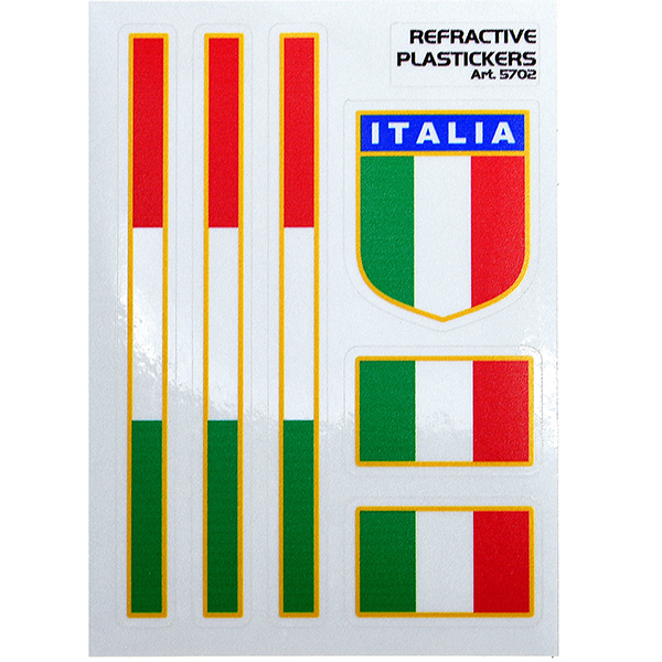 Italian Flag Sticker Set (Reflector/Type B)