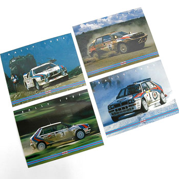 LANCIA MARTINI RACING Post Card Set(4pcs.)