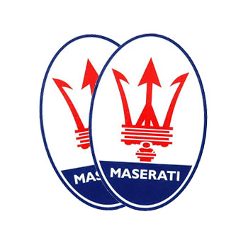 MASERATI Emblem Water Slide Decal Set(1960 Reprica)