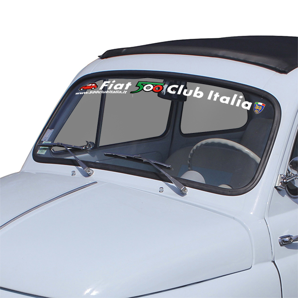 FIAT 500 CLUB ITALIA Logo Sticker(Die Cut)