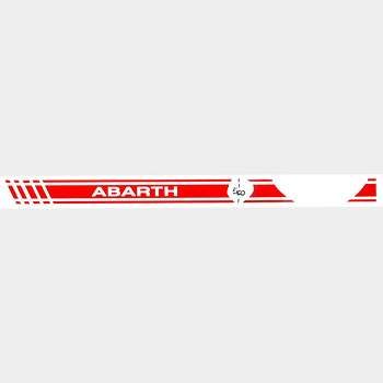 ABARTH 500 Dash Boad Stripe Sticker(LHD/Red)