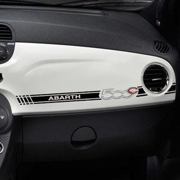 ABARTH 500 Dash Boad Stripe Sticker(LHD/Black)<br><font size=-1 color=red>12/26到着</font>