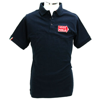 1000 MIGLIA Official Polo-Shirts(Navy/Tri Color Line)