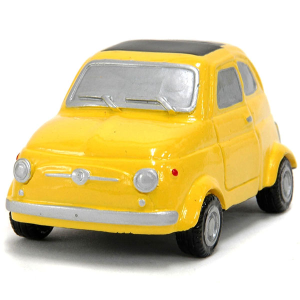 FIAT 500 Magnet miniature model(Yellow)