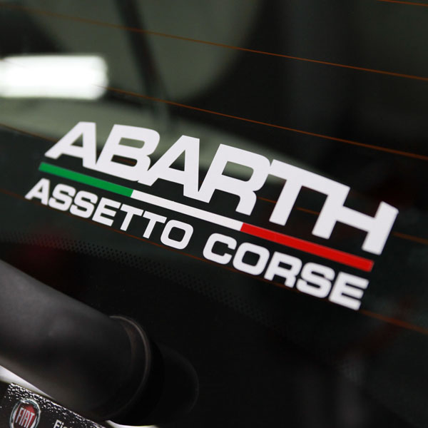 ABARTH ASSETTO CORSE Logo Sticker (Die Cut/White)