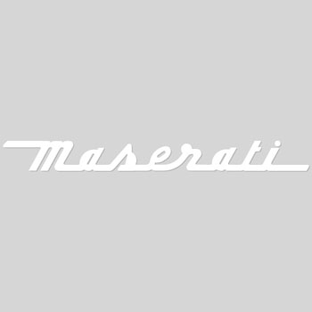 MASERATI Logo Sticker (Die Cut/White)