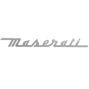 MASERATI Logo Sticker (Die Cut/Silver)<br><font size=-1 color=red>05/22到着</font>