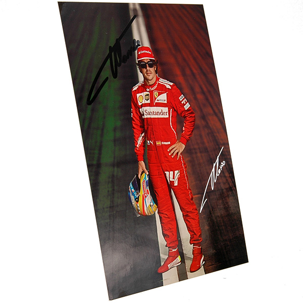 Scuderia Ferrari 2014 Drivers Card-F.Alonso Signed-