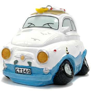 FIAT 500 Surf Coin Bank(White)