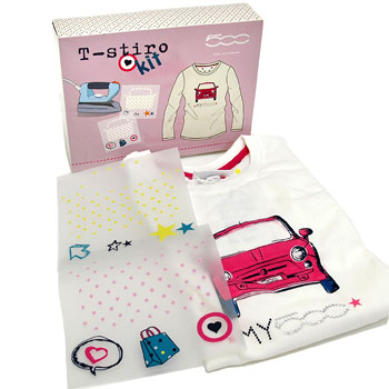 FIAT 500 Self Print Kids T-Shirts(for Women)