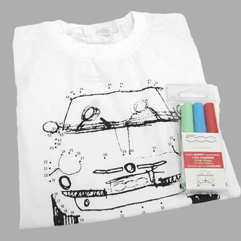 FIAT 500 Dots Game Kids T-Shirts(for men)