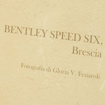 TRACCE DI MILLE MIGLIA Poster-BENTLEY SPEED SIX-