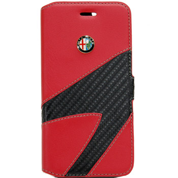 Alfa Romeo iPhone7/6/6s Book Type Case-Synthetic(Red)-