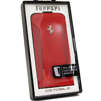 Ferrari iPhone6/6s Leather Flap Case-F12/Red-