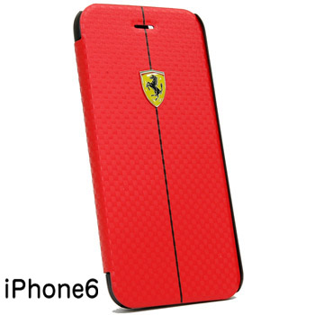 Ferrari iPhone6/6s Book Type Case-F1/Red-