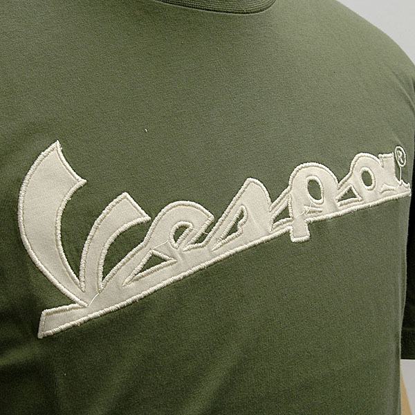 Vespa Official Logo T-shirts(Green)
