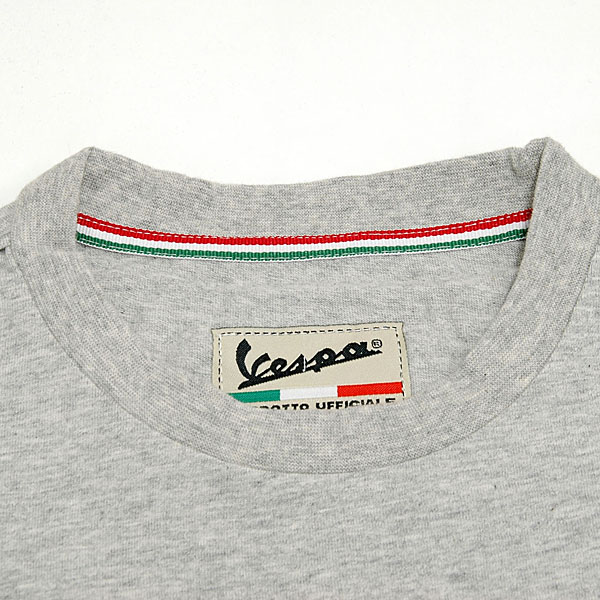 Vespa Official Logo T-shirts(Gray)