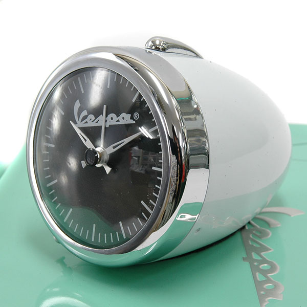 Vespa Official Small Light Shaped Clock(white)