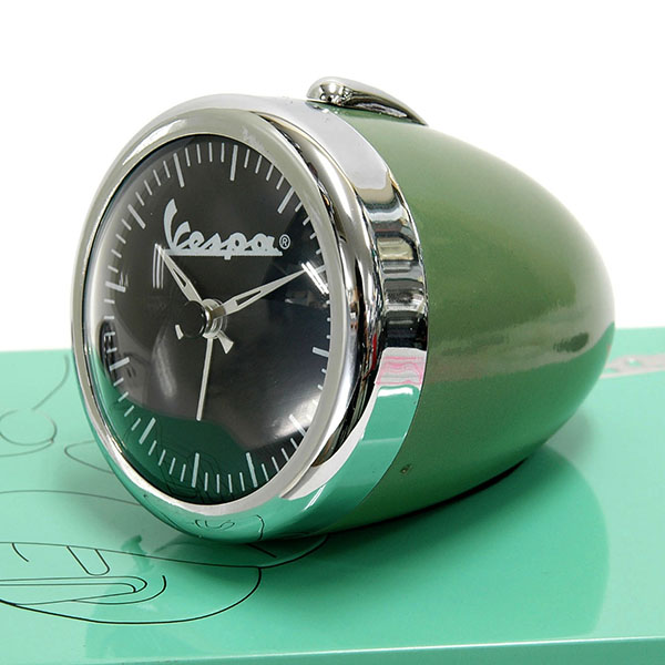 Vespa Official Small Light Shaped Clock(green)