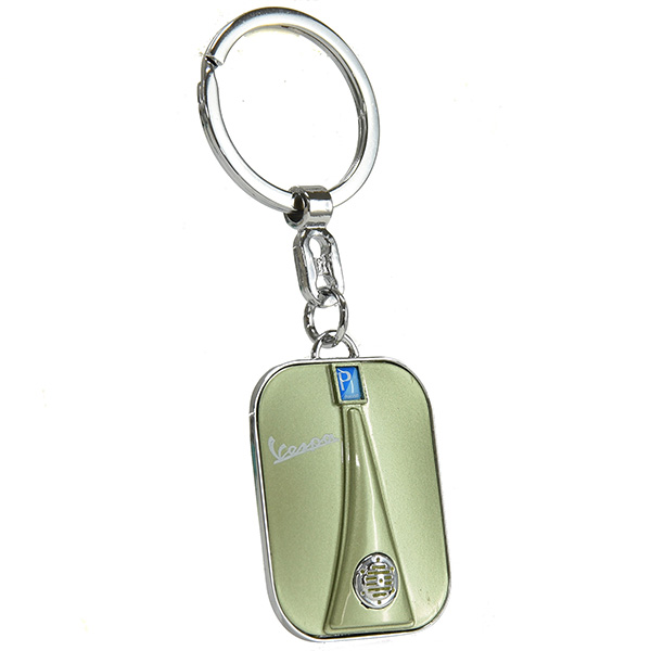 Vespa Official Front Cowl Shaped Keyring(Green)