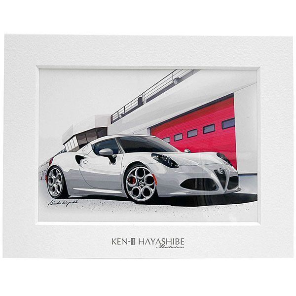 Alfa Romeo 4C Illustration by Kenichi Hayashibe