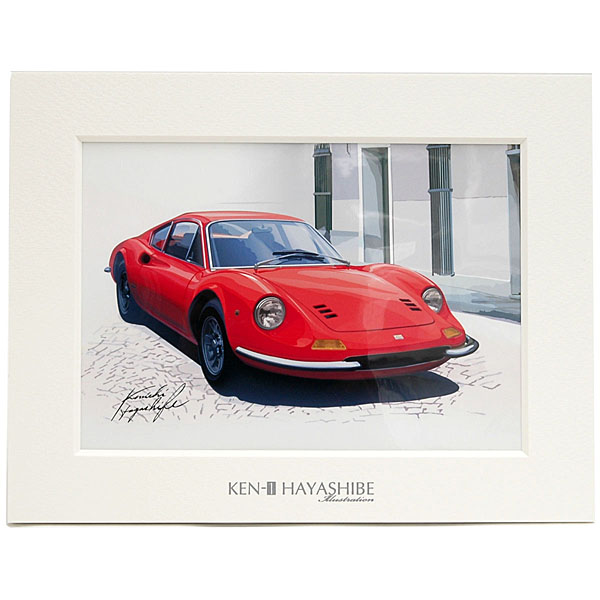 Ferrari Dino 246GT Illustration(Red) by Kenichi Hayashibe
