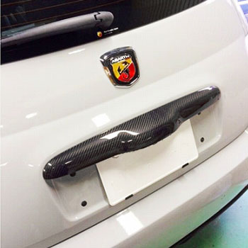 ABARTH 500 Carbon Rear Gate Handle Cover by THREE HUNDRED