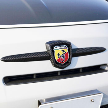 ABARTH 500 Carbon Front Emblem Cover by THREE HUNDRED